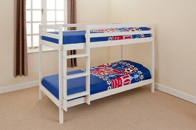 3ft or 2ft6 shorty Wooden Bunk Bed Kids in White or Pine & Mattress Options