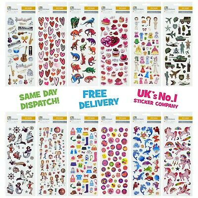 Fun Stickers Children Birthday Party Loot Bag Fillers Kids Decorating Pack F