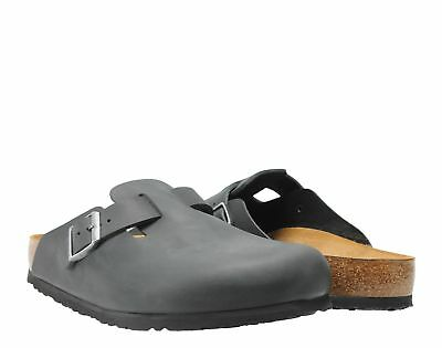 Birkenstock Boston Oiled Leather Black Unisex Slip-On Clog 0059461-0059463