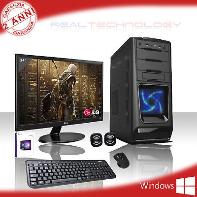 Pc Desktop Gaming Amd A8 9600 3.4Ghz Windows 10 Wifi/hd 1Tb/ram 8Gb/monitor 24