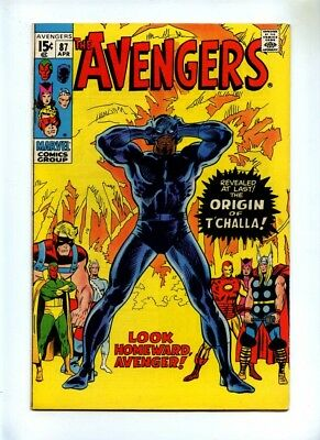 Avengers #87 - Marvel 1971 - FN+ - Origin Black Panther