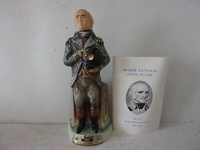 Jim Beam General John Stark - Live Free or Die Decanter with Booklet