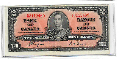 Canada Two Dollars 1937 p-59c Fine