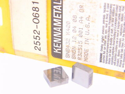 New Surplus 10Pcs. Kennametal  Sng 432  Grade: K420  Carbide Inserts