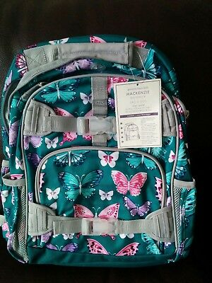 Pottery Barn Kids Mackenzie Butterfly Large Backpack No Mono NWT Green