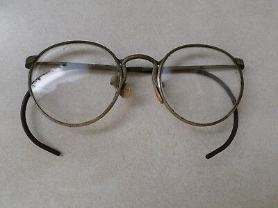 Vintage Ful-Vue Wire Rim Round Eye Glasses. Make 1021 Collectible Eye Wear