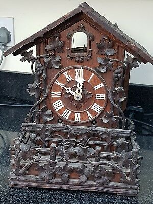 Antique Beha Double Fusee Bracket Cuckoo Clock For Restoration Automaton Project