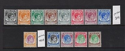 Singapore #1-11/14/17-20 George Vi Set Perf 14 (Missing 20C/40C) Mint Xlh.