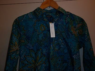 Supima Cotton Exotic Print Womens Shirt Size Small Excellent Condition
