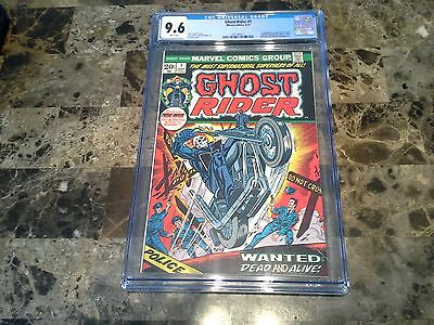 Ghost Rider 1 CGC 9.6 NM+ White Pages 1973 Bronze Age Comic