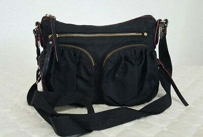 d328c2267bcad5 MZ WALLACE PAIGE Black Bedford Nylon Crossbody Handbag !HEAVY USE ...