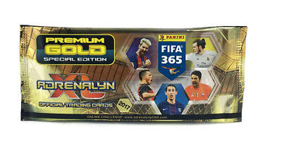 2017 Panini Adrenalyn XL FIFA 365 PREMIUM GOLD BOOSTER limited