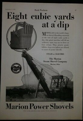 Vintage Ad 1925 MARION STEAM SHOVELS & WILLIAMSPORT WIRE Co  OHIO  PENNA #55