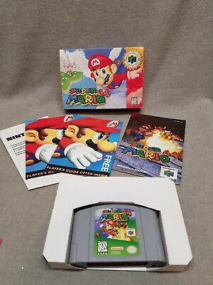Super Mario 64 Nintendo N64 Game Cartridge Box Manual Complete
