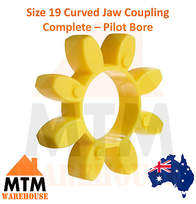 Size 19 Curved Jaw Coupling Complete - Pilot Bore