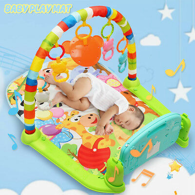 3 In 1 Baby Lullaby Kid Playmat Musical Piano Activity Fitness Gym Fun Mat Toy