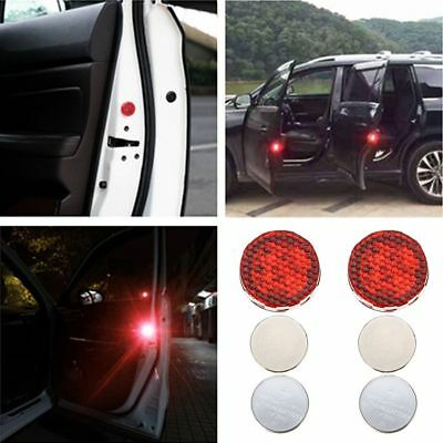 2X Universal Car Door LED Opened Warning Wireless Anti-collid Flash Light Kit HQ