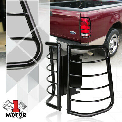 Black Stainless Steel Tail Light Guard Protector for 99-07 F250/F350/F450/F550
