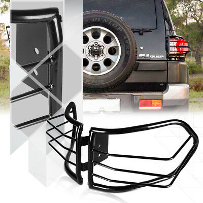 Black Stainless Steel Tail Light Guard Protector for 07-14 Toyota FJ Cruiser