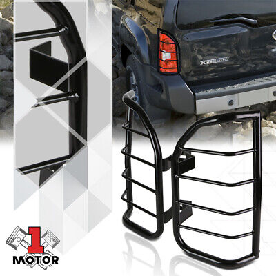 Black Stainless Steel Tail Light/Lamp Guard Protector for 05-15 Nissan Xterra