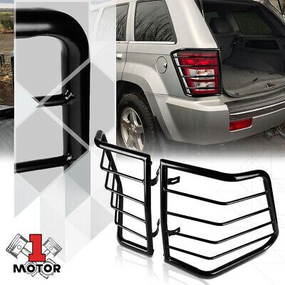 Black Stainless Steel Tail Light/Lamp Guard Protector for 05-10 Grand Cherokee