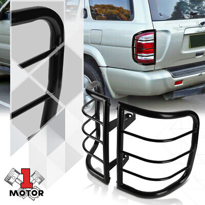 Black Stainless Steel Tail Light Guard Protector for 96-04 Nissan Pathfinder