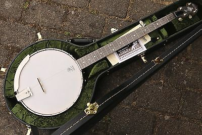 NEU Vega by Deering White Oak Open Back  5S Banjo mit Case Made in USA