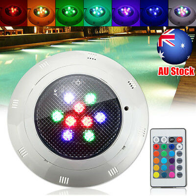 AU 12V/24V RGB LED Underwater Swimming Pool Pond Bright Light + Remote Control
