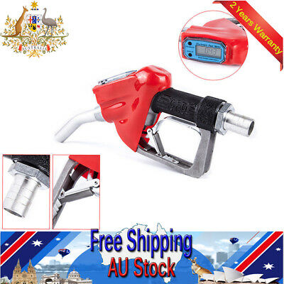 "1"" Fuel Gasoline Diesel Petrol Oil Delivery Gun Nozzle Dispenser With Flow Meter"