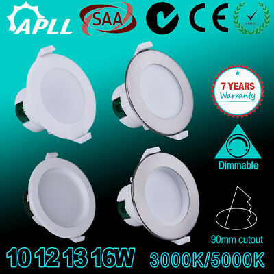 10W 12W 13W 16W Led Downlight Kit Warm /Daylight White Dim &Non Dim,Au Plug,Saa