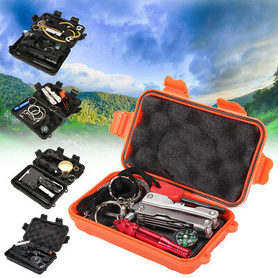 7/8/9/10Pcs Set SOS Emergency Kit Survival Outdoor Gear Hiking Camping Equipment