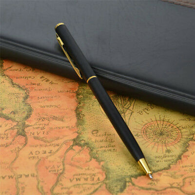 Pen Office Ballpoint Writing Pens Stationery Study School Supplies Black Gold L7