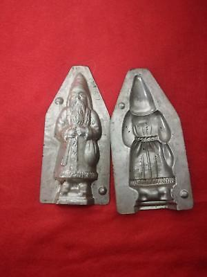 alte Schokoladenform Backform chocolate mold moule, Nikolaus, 13cm, Metall