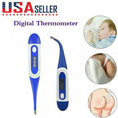 Digital Soft Type LCD Thermometer Baby Adult Body Safe Ear Mouth Temperature