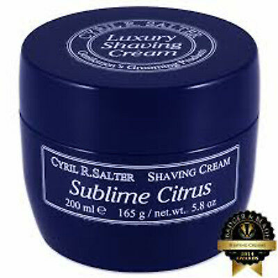 Cyril Salter Sublime Citrus Luxury Shaving Cream Tub 200 ml