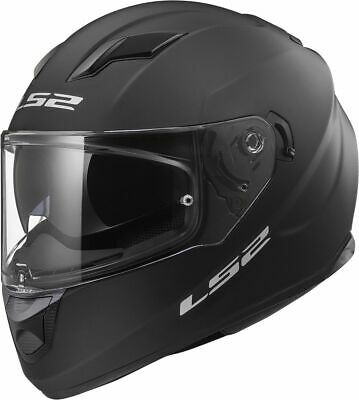 LS2 FF320 Stream Evo Motorcycle Full Face Visor Sport Bike Helmet - Matt Black