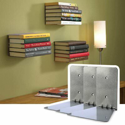 3pcs New Conceal Invisible Bookshelf Wall Mounted Floating Shelves Storage