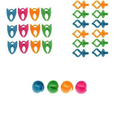 28pcs Mixed Colors Silicone Bobbin Holders Clips Clamps Thread Spool Huggers