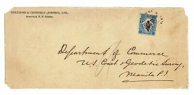 North Borneo 1925 Cover to Philippines (FRONT ONLY) - Z2306