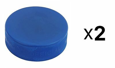 A&R Ice Hockey Puck Blue Mite Hard Rubber And Adhere To The Strictest (2-Pack)