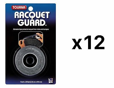 Tourna Racquet Guard Tape Tennis Head Protection Durable 20 Ft Roll (12-Pack)
