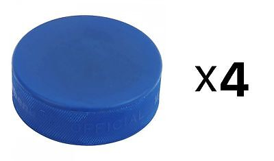 A&R Ice Hockey Puck Blue Mite Hard Rubber And Adhere To The Strictest (4-Pack)