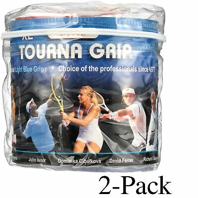 Tourna Tennis Over Grip-30 XL Overgrips-Absorbent Dry Feel Blue (2-Pack)