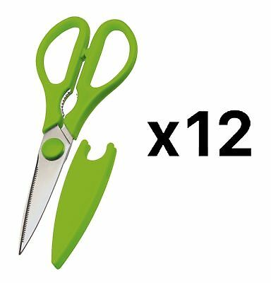 Prepworks By Progressive Kitchen Shears Scissors Green w/ Blade Cover (12-Pack)