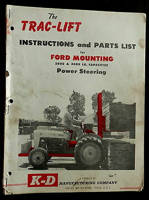 K-D Mfg Co TRAC-LIFT Instructions & Parts List FORD Mounting 2000-4000lb cap