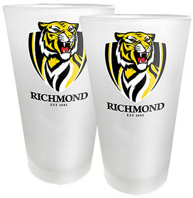 AFL Conical Glasses Set of 2 Richmond Tigers New // Pre-Order!!