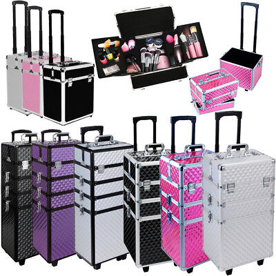 Extra Large Makeup Case Hairdressing Vanity Beauty Trolley Cosmetic Box Storage