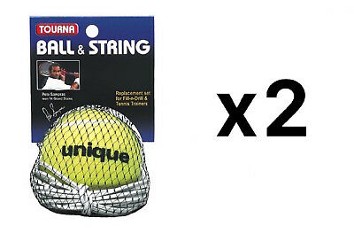 Tourna Replacement Ball-String Replacement-Fill N Drill Sampras Trainer (2-Pack)
