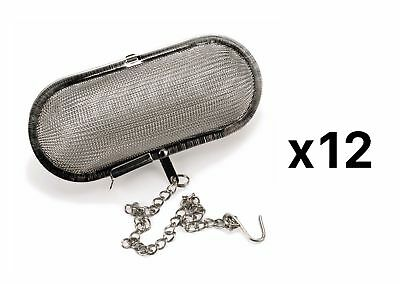 RSVP Endurance 18/8 Stainless Steel Mesh  Infuser, 4 ½ x 2 Inches (Pack of 12)
