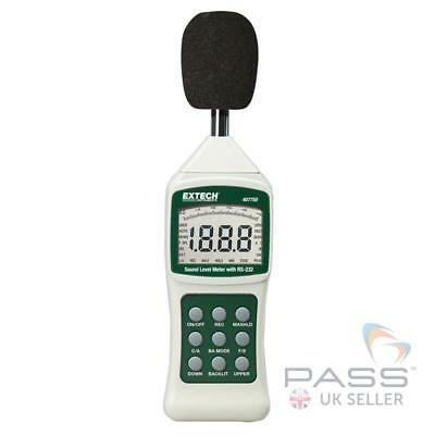 *NEW* Extech 407750 Sound Level Meter with PC Interface Inc. Case / UK